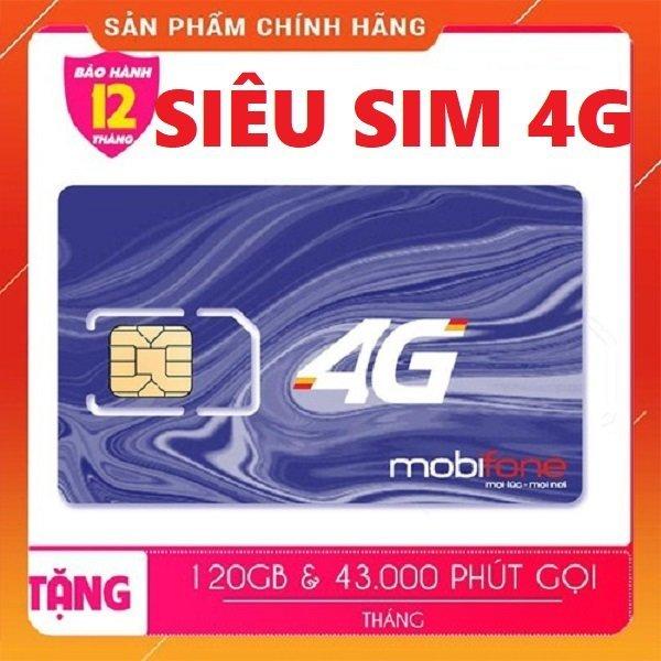 ThánhcSim 4G Mobifone C120N 120GB/tháng - Tặng ngay 4 GB/ngày + 1000 phút nội mạng + 50 phút liên mạng chỉ với 90k/tháng từ MƯỜNG THANH ROYAL