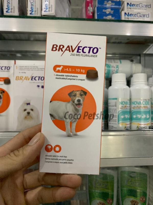 Bravecto - viên nhai diệt ve, ghẻ, bọ chét cho chó từ 4.5 - 10 kg