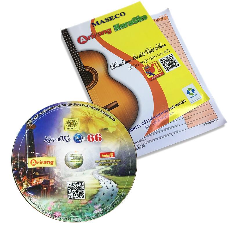 Bộ sách Vol 65-66 và dĩa Karaoke Arirang Serial C mới cập nhật