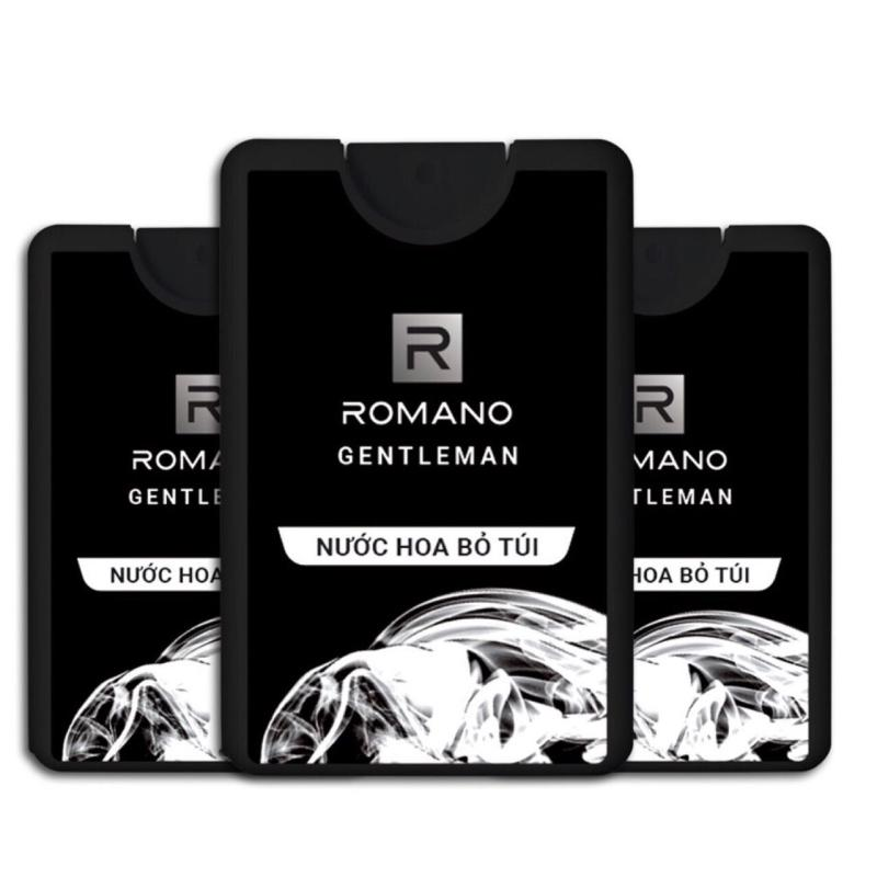 Combo 3 chai Nước hoa bỏ túi Romano Gentleman (18ml*3)