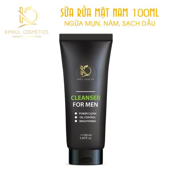 Sữa rửa mặt cho Nam KimKul Cleanser For Men 100ML - Sữa rửa mặt ngừa mụn, kháng khuẩn, dưỡng da ẩm đàn hồi