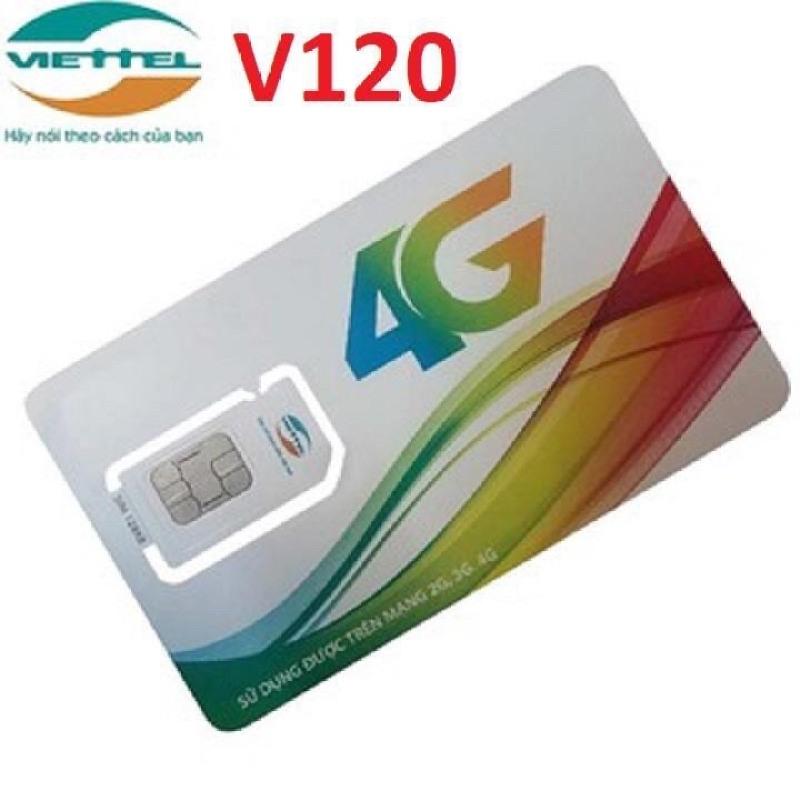 Thánh Sim 4G VIETTEL Gói V120 - Khuyến Mại 2Gb/Ngày, Miễn Phí Gọi Nội Mạng + Ngoại Mạng