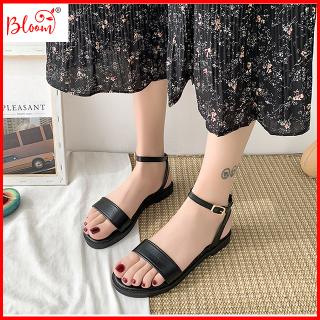 Giày sandal nữ đi học quai ngang đế bằng YUKIBLOOM Giày sandal nữ quai hậu kiểu cổ điển Bền Đẹp SN01 thumbnail