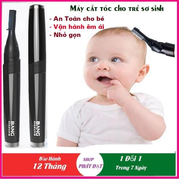 Tông đơ cắt tóc cho bé, Dụng cụ cắt tóc cho trẻ sơ sinh, máy cắt tóc cho trẻ em Bang Dòng Chuyên Dụng Nhỏ gọn, Lưỡi An Toàn cao cấp