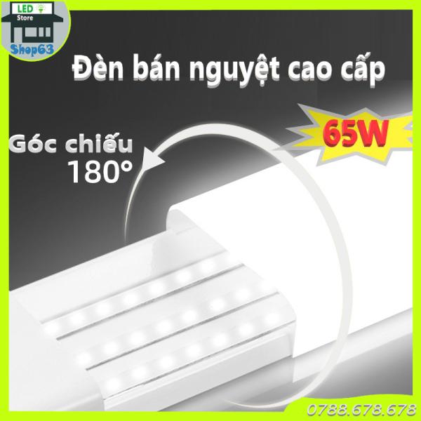 Đèn bán nguyệt cao cấp 65W - LED tuýp 1m2 [đầu vuông thân vuông chịu lực tốt - vỏ nhôm dày không xiu vẹo  - 3 hàng LED siêu sáng chuẩn công suất - bảo hành 24 tháng]