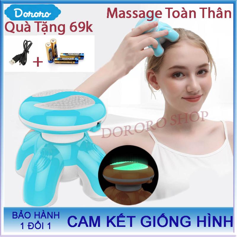 Máy Massage Mini Mimo Bản Nâng Cấp 2020 Thiết kế 4 Chân massage   Tặng kèm 3 viên PIN tiểu AAA + Dây sạc lại Trị Giá 69k ; gối massage magic; máy massage; máy massage xiaomi – DORORO SHOP