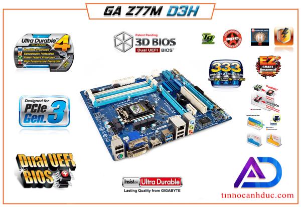 Bảng giá MAIN Z77 CAO CẤP 1155 GA-Z77-DS3H Full OPTION HDMI DVI VGA 4 Khe DDR3 SATA3 hỗ trợ i3 i5 i7 ram 32G Phong Vũ