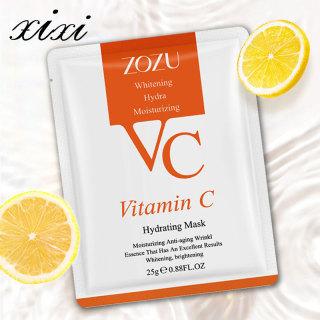 [1 miếng] Mặt nạ dưỡng ẩm VC,chứa tinh chất vitamin c hữu cơ, làm trắng kiểm soát dầu dưỡng ẩm, cải thiện tình trạng khô và mất nước của da thumbnail