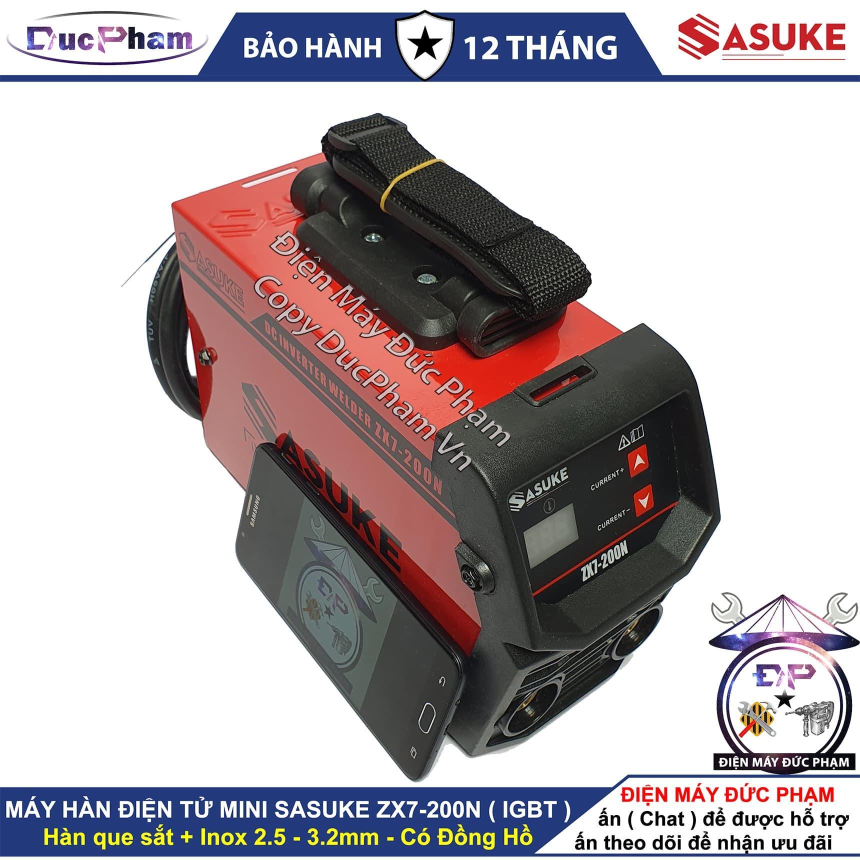 Máy hàn mini Sasuke ZX7-200N có đồng hồ - Điện Máy Đức Phạm - DucPham Vn ,máy hàn que 200A , máy hàn điện tử , máy hàn mini gia đình