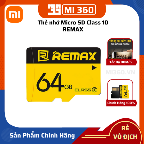 Thẻ Nhớ Micro SD Class 10 Remax 64GB 80MB/s Chính Hãng ✅ Bảo Hành 12 Tháng✅ Chuyên Dùng Camera