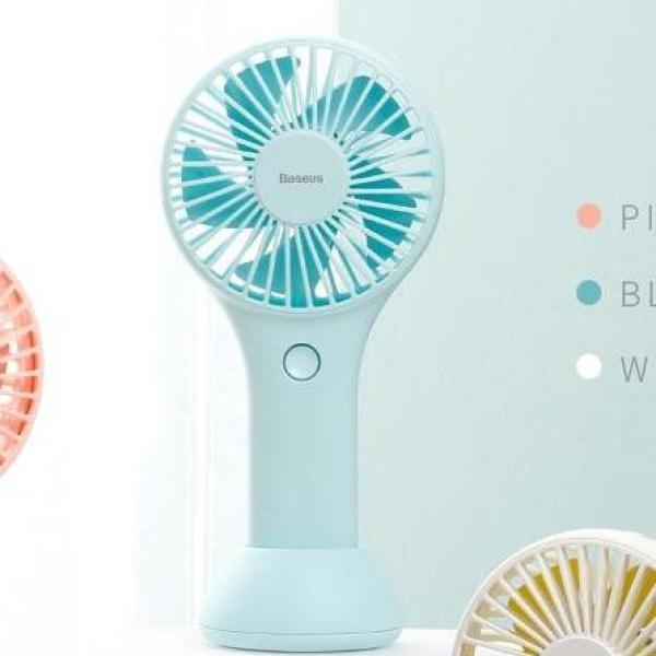 Quạt sạc tích điện Baseus Mini USB Fan Di Động để bàn hoặc Cầm Tay  Pin bền 1800 mAH Tiện Dụng sử dụng đa năng trong nhà ngoài trời - Phân phối bởi Vietstore