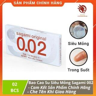 [HCM][ CHÍNH HÃNG ] - Bao Cao Su SAGAMI ORIGINAL cao cấp siêu mỏng 0.02 Hộp 2c thumbnail