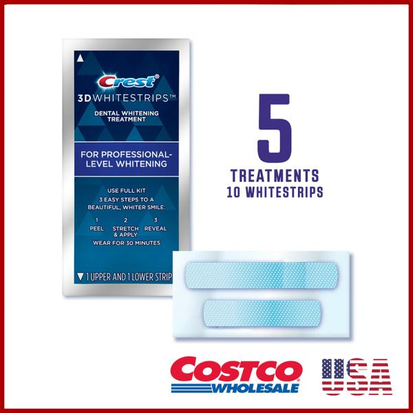 5 gói dán trắng răng Crest 3D WHITE Whitestrips Professional Effects (LOẠI TỐT NHẤT CỦA CREST, COSTCO MỸ) giá rẻ