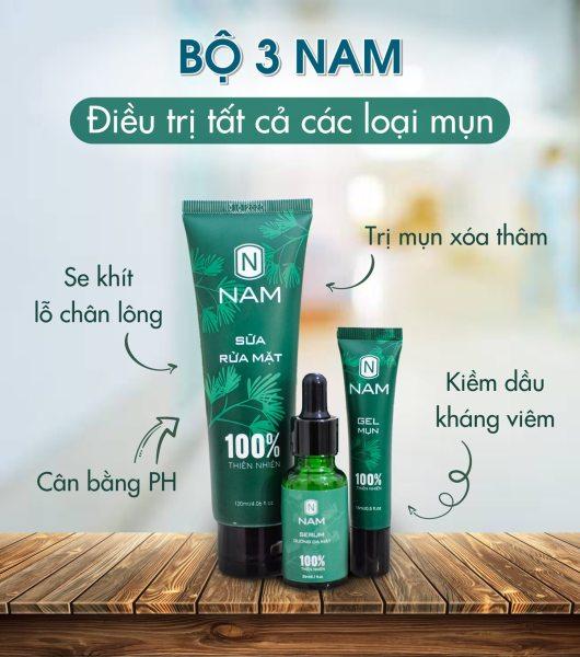 [HCM]Combo giảm mụn cho nam toàn diện làm sạch mụn thâm dưỡng da sáng mịn - Daily Natural cao cấp