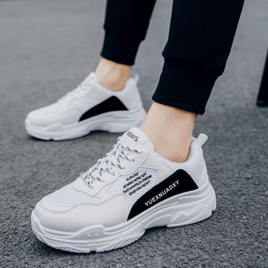 Giày thể thao nam sneaker Sườn Chữ Đỏ , Trắng LEMA - GN36 giá rẻ