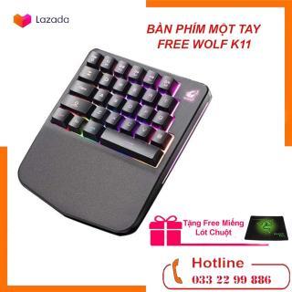 [ COMBO ] BÀN PHÍM bán cơ một tay FREE WOLF K11 với 28 phím Chơi game trên điện thoại,Laptop,máy tính bảng - TẶNG LÓT CHUỘT thumbnail