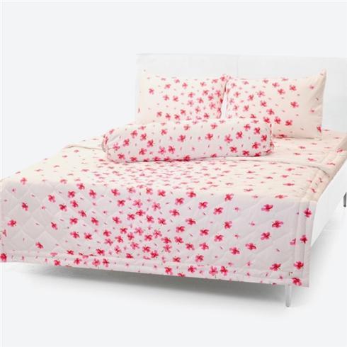 Chăn/Mền Cotton Thắng Lợi chần gòn hoa nhí hồng 1m7x2m
