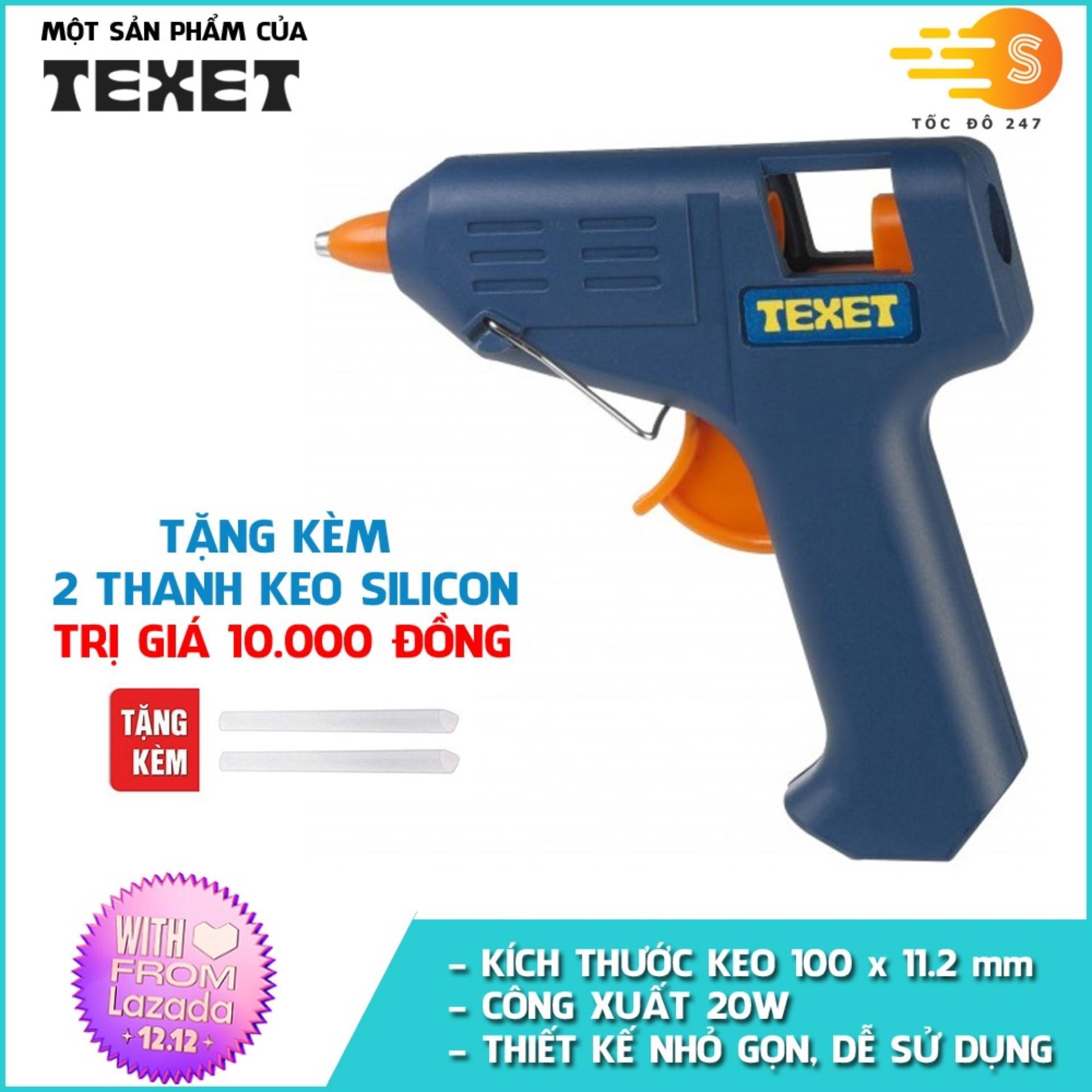 Súng bắn keo TEXET HH-158 (Tặng 2 thanh keo)