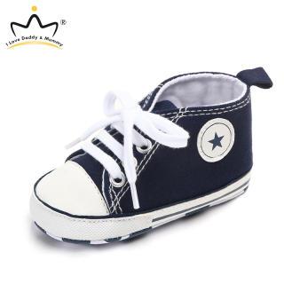 I Love Daddy & Mummy Giày Em Bé 0-18 Tháng Tuổi Giày Vải Thường Ngày Đế Mềm Chống Trượt Cho Bé Trai Bé Gái Giày Thể Thao