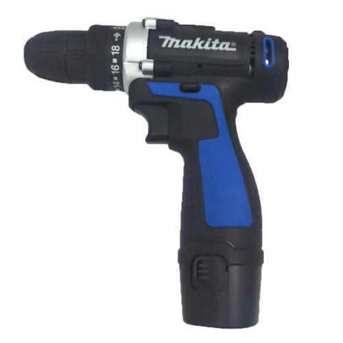 máy khoan pin cầm tay 12v makita có đèn led, máy khoan pin 2 cấp độ