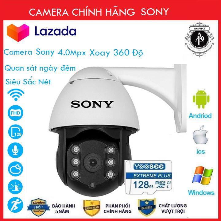 ( Combo Camera Thẻ 128GB Yoosee Bảo Hành 60 Tháng ) Camera Wifi Sony PTZ Xoay 360 Độ 4.0 Ngoài Trời - Trong Nhà 3.0 Mpx Full Hd 1080P , Siêu Chống Chịu Thời Tiết - New 2020 - An Phat Company (MÃ KÈM THẺ 615K VÀ KHÔNG KÈM THẺ 515K)