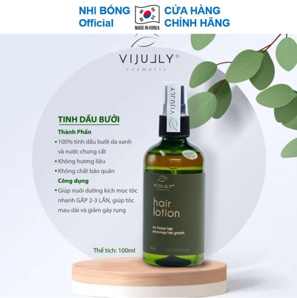Tinh Dầu Bưởi Vi Jully - Giảm Rụng - Kích Thích Mọc - Làm Dài Tóc Việt Nam 100ml giúp cho tóc óng mượt tự nhiên TDB01