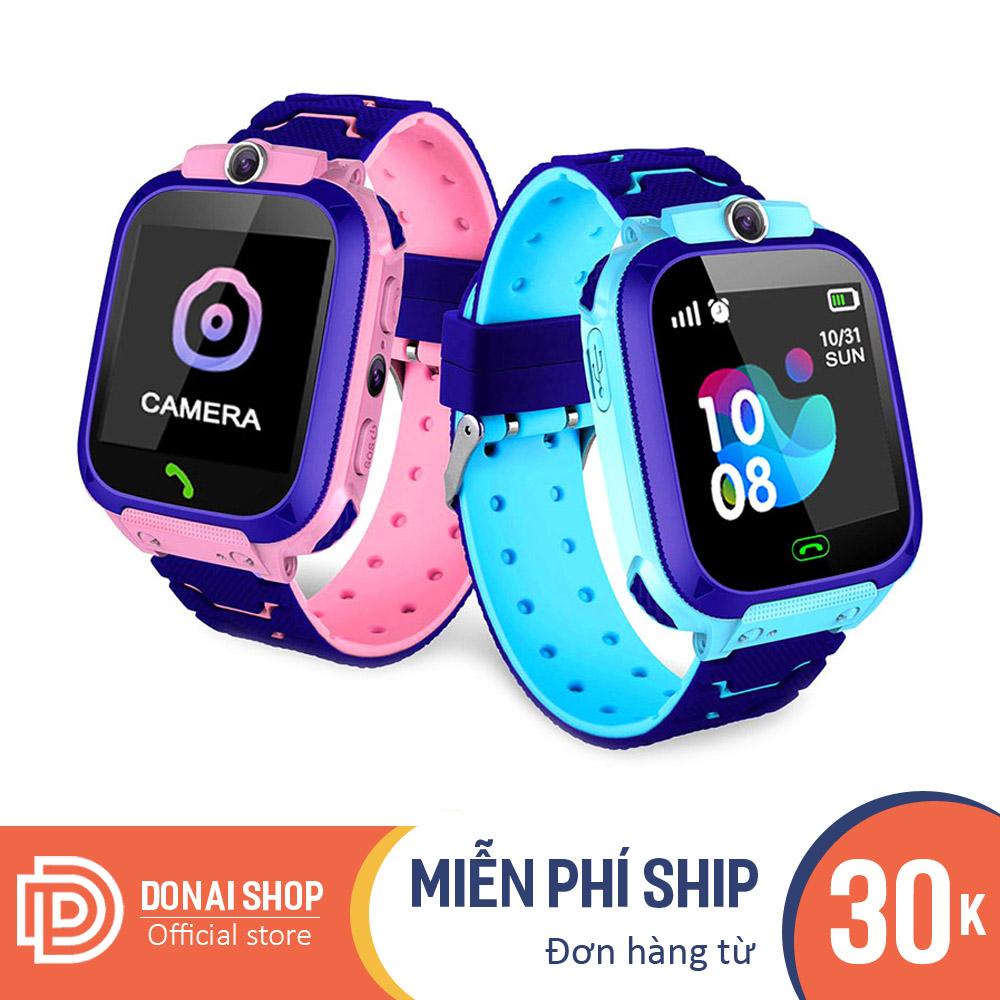 Đồng hồ thông minh trẻ em, dùng sim, nghe gọi rõ ràng, nhắn tin tốt, có định vị vị trí LBS, chống nước IP67, có camera và gọi khẩn cấp DQ12.DONAI
