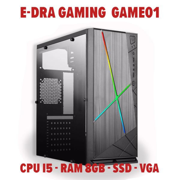 Bảng giá Thùng máy tính Case Cấu hình chơi game E-DRA GAMING E-DRA01 CPUi5 - SSD 120GB - DDRAM 8GB - VGA (Tặng HDD 500GB Có Game OFFline) Phong Vũ