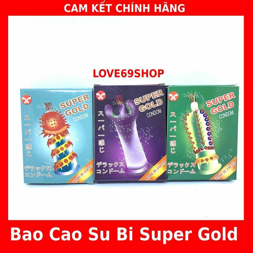 (Combo 3 hop) BAO CAO SU SUPER GAI GOLD CAO CẤP(đầu có Bi ,Gân Gai Sọc Chạy Dọc Thân Bao ,Silicom Siêu Mêm)