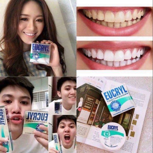 1 hộp bột trắng răng mỹ