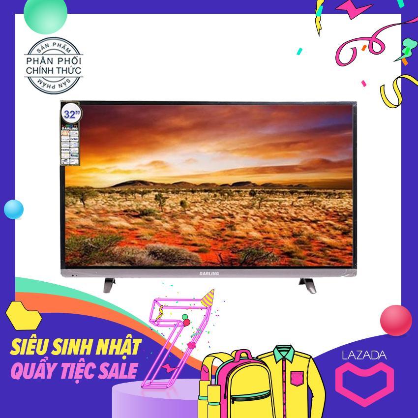 Smart Tivi Led Darling 32inch HD - Model 32HD959T2, 32HD960S (Viền Xám Dưới) Tích hợp DVB-T2, Wifi