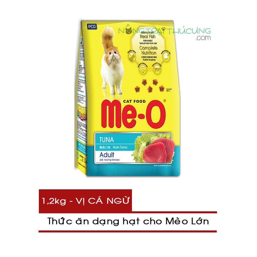 Offer Giảm Giá Thức ăn Hạt Cho Mèo Lớn ME-O Gói 1,2kg - Vị Cá Ngừ - [Nông Trại Thú Cưng]