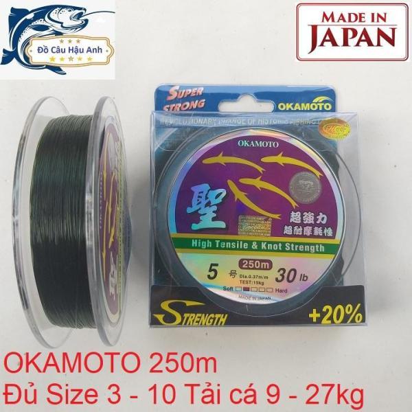 Cước câu cá Nhật Bản OKAMOTO 250m đủ size siêu bền siêu khỏe