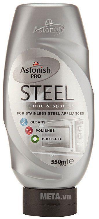 Chất tẩy rửa bề mặt kim loại Astonish Pro Steel - 550 ml