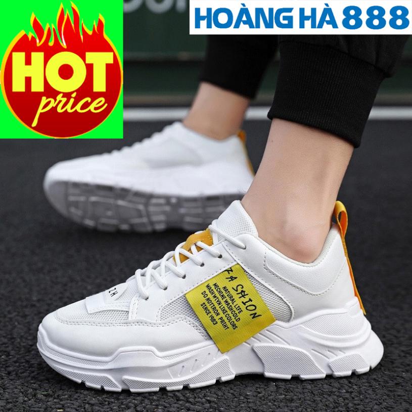 Giày Thể Thao Nam Phong Cách Hàn Quốc Tăng 5Cm Chiều Cao, Kiểu Dáng Mạnh Mẽ Cực Kì Ngầu, Chất Liệu Bền Đẹp giá rẻ