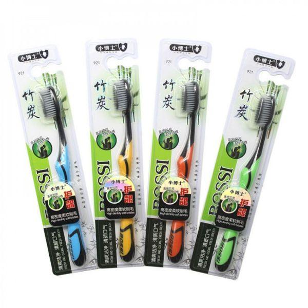 [Có Video bàn chải ] Combo 5 chiếc Bàn chải đánh răng than Tre BOSSI 921 Cao cấp Hàn quốc ( giao màu ngẫu nhiên ) giá rẻ