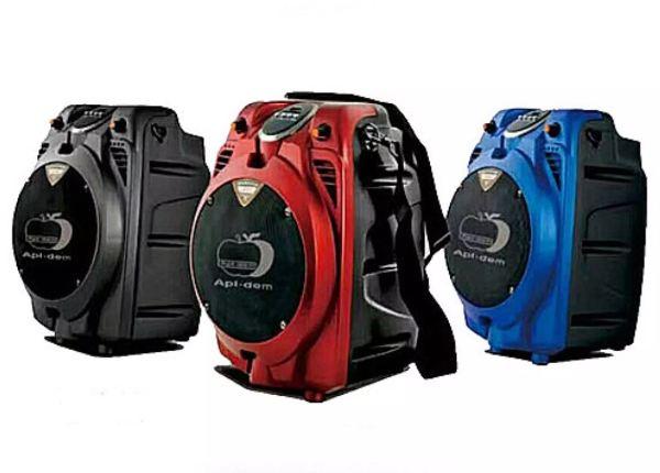 [ HÀNG MỚI VỀ ] Loa Kéo Bluetooth Mini Trái Táo TP-H065 Kèm 2 Micro Không Dây, Nghe Nhạc-Hát Karaoke Cực Hay, Công Suất Lớn, Pin Lâu, Âm Thanh Sống Động, Kết Nối Được Thiết Bị Điện Tử Khác Nhau, Cổng AUX, USB, Thẻ Nhớ, Loa Di Động