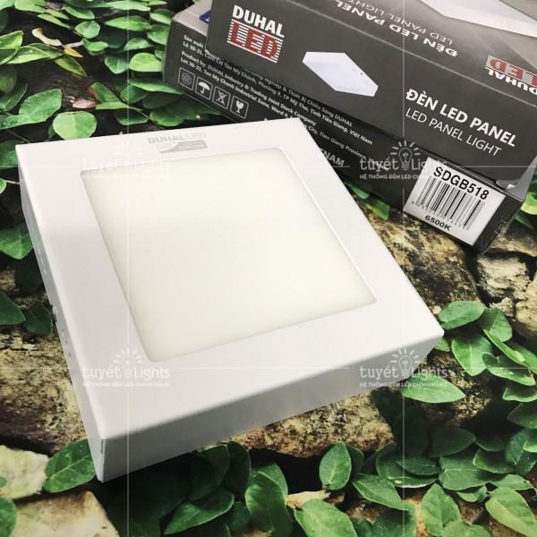 ĐÈN LED ỐP TRẦN VUÔNG NỔI 18W DUHAL SDGB518 SÁNG TRẮNG
