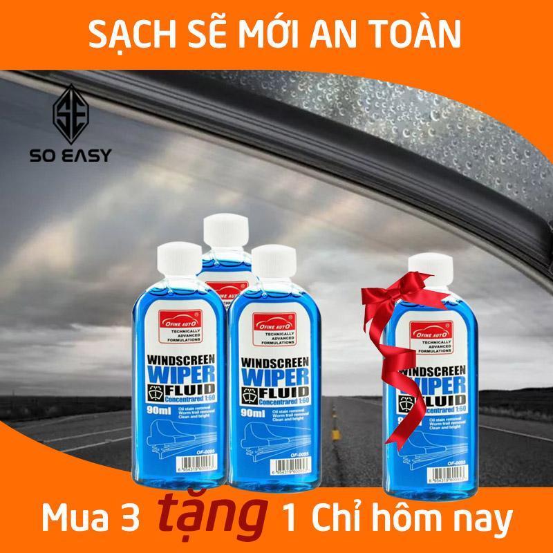 Mua 3 tặng 1 nước rửa kính ô tô dung dịch rửa kính lái sạch và trong suốt xe hơi, ô tô, xe tải, xe khách đậm đặc, châm két nước rửa kính chắn gió Clear Glass View 1:60 dung tích 90ml_C084-CKNX