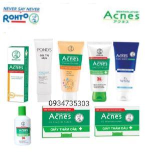 Combo 8 sản phẩm Acnes chăm sóc da mụn sữa rửa mặt acnes & gel giảm mụn acnes + dung dịch kháng khuẩn acnes ngừa mụn + giấy thấm dầu acnes + gel chuyên biệt sáng thâm mờ sẹo acnes - trọn bộ acnes thumbnail