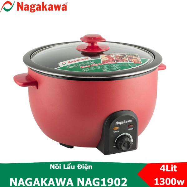 Nồi Lẩu Điện Nagakawa NAG1902 dung tích 4 Lít đa chức năng - Bảo hành 12 tháng
