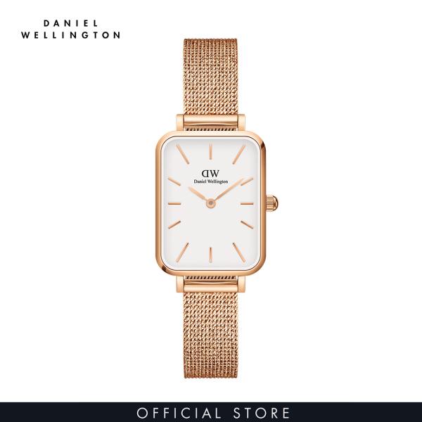Đồng hồ Nữ Daniel Wellington dây lưới - Quadro Pressed Melrose 20x26mm DW00100431