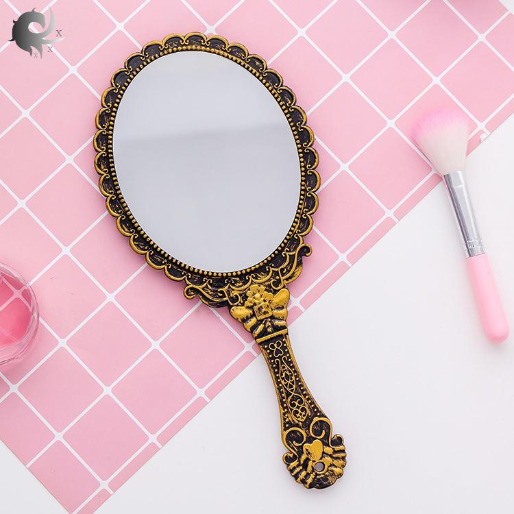 (1 cái), gương trang điểm cổ điển xử lý gương trang điểm, gương trang điểm, gương ren cầm tay, gương cầm tay, chất liệu ABS cao cấp (25 * 11.2CM) giá rẻ