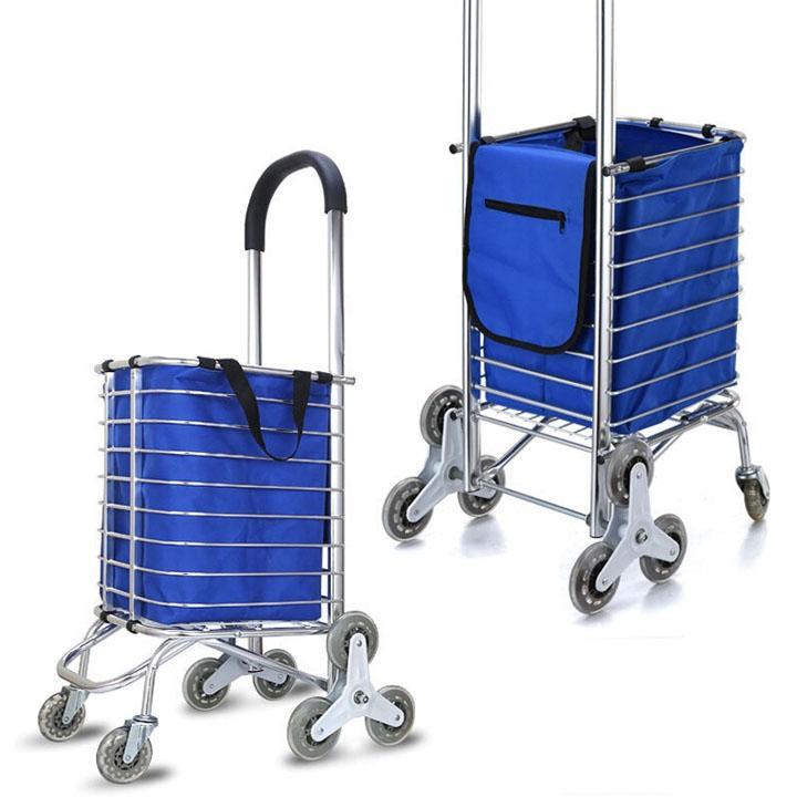 Xe kéo hàng đi chợ đa năng,Xe Kéo Đi Chợ Có Bánh Xe,Xe kéo đi chợ 3 bánh leo cầu thang siêu nhẹ cao cấp