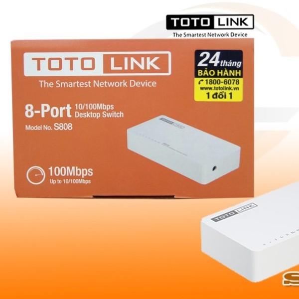 Bảng giá Bộ chia mạng Totolink S808 - Switch 8 cổng 10/100Mbps (hàng chính hãng bh 24T) Phong Vũ