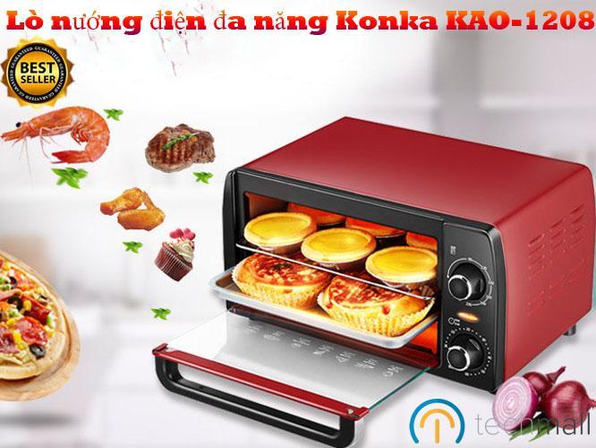 Lò nướng điện đa năng Konka KAO-1208 - Thiết kế cao cấp.