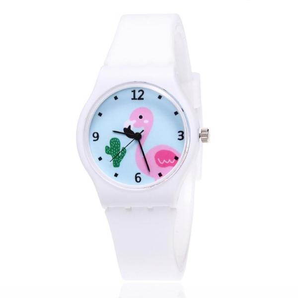 Giá bán Đồng hồ bé gái dây silicon hình chim hồng hạc cá tính BBShine – DH011