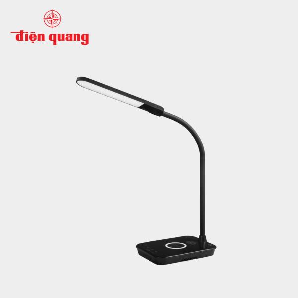 Đèn bàn LED Bảo vệ thị lực Điện Quang ĐQ LDL14 WCH 15BL (Tích hợp sạc không dây, 15W, màu đen)