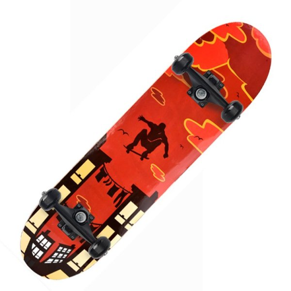 Giá bán Ván Trượt Skateboard Gỗ Phong 7 Lớp , Bánh LED 7 màu, Mặt Nhám Cao Cấp, Ván Trượt Thể Thao Chuyên Nghiệp