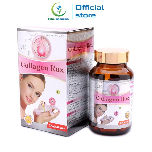 Viên uống đẹp da Collagen Rox giúp da hồng hào, sáng mịn, chống lão hóa, tăng nội tiết tố nữ - Chai 60 viên cao cấp
